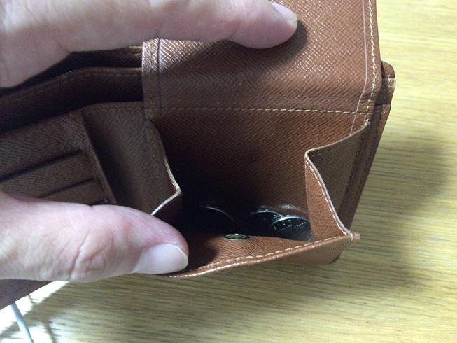 ヴィトン財布のコインポケット