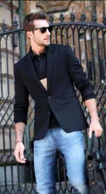 ブラックテーラードジャケット