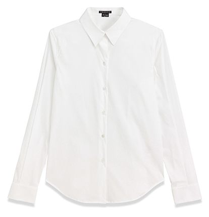 セオリーの白シャツ
