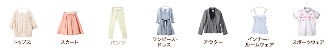 LOCONDO.JPの洋服カテゴリー